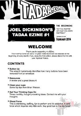 Joel Dickinson - TADAA EZINE Issue 1