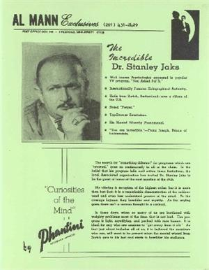 Al Mann - The Incredible Dr Stanley Jaks
