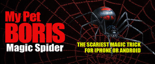 My Pet Boris Magic Spider The Scariest App for Iphone or Android