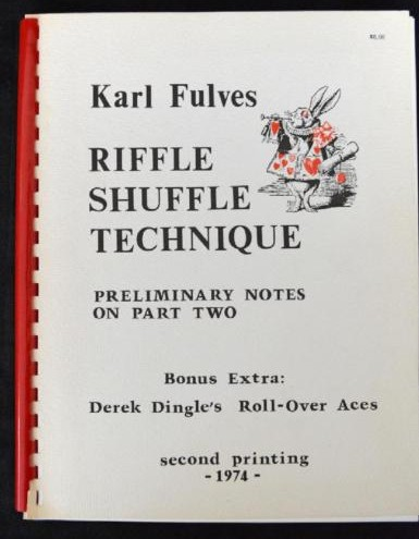 Karl Fulves - Riffle Shuffle Technique - Preliminary Notes on Part Two (PDF download)