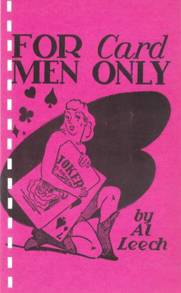 For Card Men Only By Al Leech - For Card Man Only