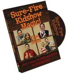 Sure-Fire Kidshow Magic by David Ginn (Video Download)